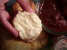 Lemon and Sugar Mini Biscuits pair with apple butter