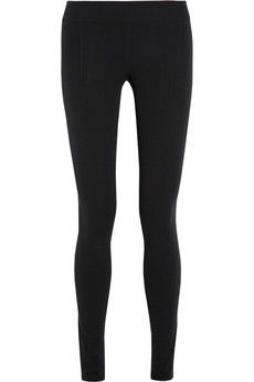 Helmut Lang Basic Reflex stretch-crepe leggings | NET-A-PORTER
