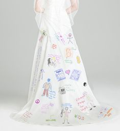 A Closer Look at the Drawings on Angelina Jolie's Wedding Dress from Pat O'Brien and Zack Poitras from Funny or Die.