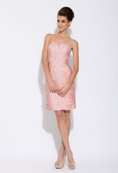 Blush Ruched Cocktail Dress