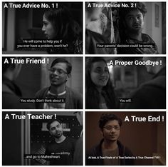 Kota Factory web series is India's first 'Black and White' show highlights the problems present day IIT-JEE aspirants face in their day-to-day lives. Bff Quotes, Heart Quotes, Qoutes, Friendship Dialogues, Long Love Quotes, Peaky Blinders Series, Inspirational Quotes About Success, Study Motivation Quotes, Birthday Wishes Quotes
