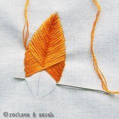 bordado folha