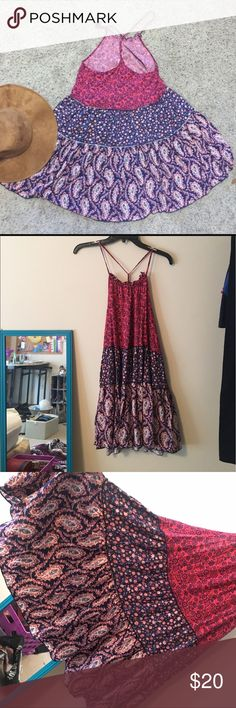 NWT floral boho dress Super cute and flowy sundress from Aeropostale. NWT and in perfect condition. Size large. Floral detail. Aeropostale Dresses