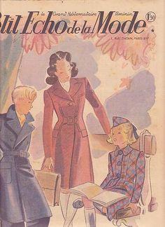 """revue ancienne de mode 1941""""le Petit Echo de la Mode""""N°36"""