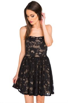 Lace Strapless Party Dress