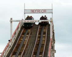 """They're Off (Wooden Coaster """"Grand National"""", Blackpool Pleasure Beach)"""