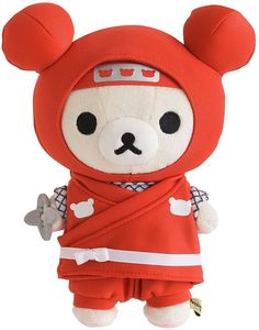 Korilakkuma Ninja Rilakkuma Plush Doll Stuffed Japan San-X F/S New! Rilakkuma Plushie, Plushies, Ninja Japan, Studio Ghibli Art, Cute Stuffed Animals, Cute Bears, Kawaii Cute, Cute Crafts, Wow Products