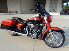 CVO Road King  Tribal Orange and Galactic Black with Aztec Shadow Graphics