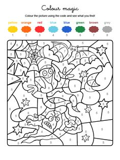 3287 Colour By Numbers Une Chauve Souris Et