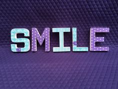 SMILE by Ribbonnthreads on Etsy