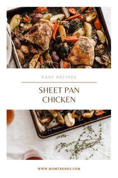 Easy sheet pan chicken recipe. #recipe #sheetpan