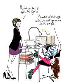 Femina 3, travail, motin, humour