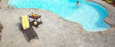 """English Cobble gives you that """"Old World"""" feel around your pool."""