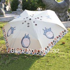 Free Shipping Japanese Anime KIGURUMI Totoro sun protection personalized manual umbrella 1PC