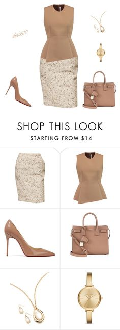 Untitled #1588 by doris610 on Polyvore featuring Alexander Wang, Chanel, Christian Louboutin, Yves Saint Laurent, Kim Rogers and Michael Kors