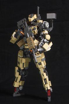 Lego Bots, Sci Fi Armor, Lego Mechs, Lego Military, Lego Projects, Cool Lego, Legos, Gundam, Twitter