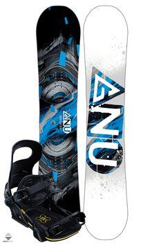 Komplet Snowboardowy Deska Wiązania Gnu Carbon Credit Asym 147