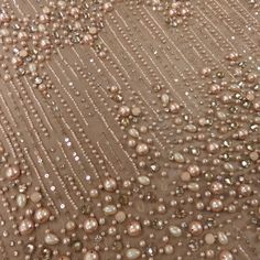 A #Blush #Pearl Heavily #Beaded Embroidered #Tulle