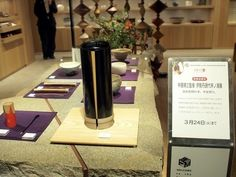Teawares displayed in Isetan in Shinjuku