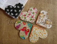 Scrap Fabric Projects, Small Sewing Projects, Sewing Projects For Beginners, Fabric Scraps, Sewing Hacks, Sewing Crafts, Felt Bookmark, Bookmark Craft, Diy Bookmarks