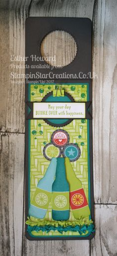 ONSTAGE 2017, Display Stamper Samples Occasions Catalogue 2018 Bubble Over Bundle Bubble & Fizz DSP Bubble Over Bottle Label Esther Howard Stampin Star Creations.co.uk You Tube: Stampin Star Creaions Facebook: Stampin Star Creations