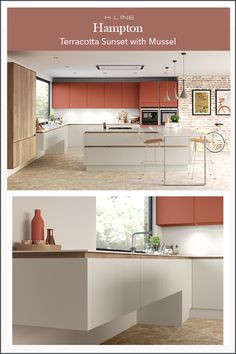 Hampton H Line is a 'flat slab' painted door finished in our beautifully tactile, super smooth silk finish Modern Kitchen Design, Modern Design, Handleless Kitchen, Floating Cabinets, Warm Grey, The Hamptons, Wales, Scotland, Kitchen Ideas