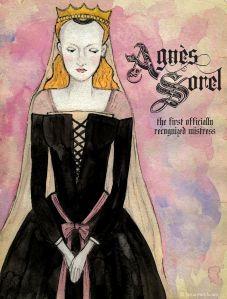 """Agnes Sorel (1422-1450), """"Dame de Beauté"""", mistress to Charles VII of France: http://historywitch.com/2014/08/18/dame-de-beaute/"""