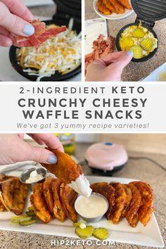 Low Carb Keto, Low Carb Recipes, Cooking Recipes, Healthy Recipes, Healthy Foods, Keto Foods, Ketogenic Recipes, Ketogenic Diet, Mini Waffle Recipe
