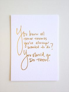 Handwriting Desk Card // Gold Foil by LaraCaseyShop on Etsy, $12.00