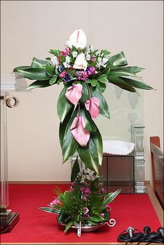 Church Flower Arrangements, Floral Arrangements, Altars, Table Decorations, Board, Home Decor, Craft, Totes, Flowers