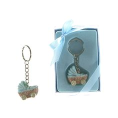 Lunaura Baby Keepsake  Set of 12 Boy Baby Stroller Key Chain Favors  Blue * Read more at the image link.-It is an affiliate link to Amazon. #BabyKeepsakeProducts