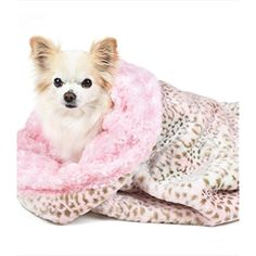 Faux Fur Plush Designer Dog/Pet Cuddle Cup Bed by Peluche Plush (Pink Faux Leopard with Pink Rose Petal) *** See this great product. (This is an affiliate link) #Dogs