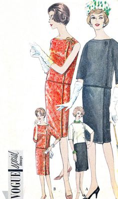 1960s Dress Pattern Vogue 4262 Special Design Two by paneenjerez, $25.00