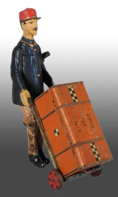 Lehmann Adam the Porter Wind-Up Toy, c. 1912-25, Germany