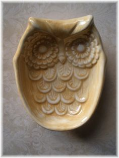 Owl Soap Dish or  Sponge Dish Home Decor by Angelheartdesigns, $15.00