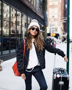 Cool girl vibes in our Bomber Jacket! ❤️ / www.shopsincerelyjules.com