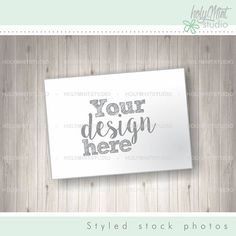 Stock Photos - Paper Page Mockup by www.HolyMintStudio.Etsy.com