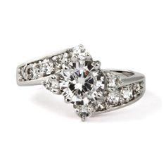 Ellie's Elegant CZ Engagement Ring, $38