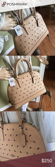 Beautiful coach Butterfly 🦋 last one New with tags great holiday gift 💝 the color is called Beachwood Coach Bags Satchels