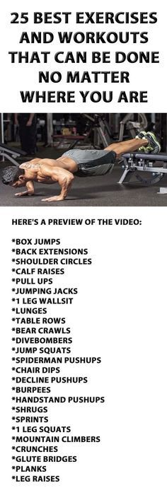 25 Exercises And Workouts That Can Be Done No Matter Where You Are.