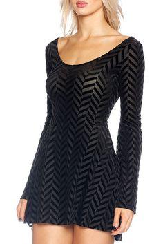 Burned Velvet Herringbone Arabella Dress - LIMITED – Black Milk Clothing