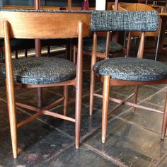 #1967 #fresco #dining #chairs by #vbwilkins for #gplan #egomme #highwycombe #england ~ #mcm #teak ~ we have 12 in stock with original #blackandwhite #fabric in like new condition. Ready for your #home #office #cafe #restaurant #bar ~ available at #danishmodernsandiego #indiastreetantiques #littleitalysd