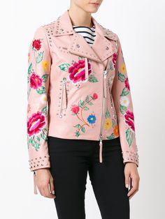 P.A.R.O.S.H. floral biker jacket
