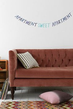 Apartment Sweet Apartment Wall Decal #urbanoutfitters