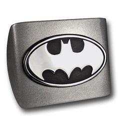 Batman Chrome Oval on Powder Coated Trailer Hitch