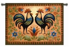 country rustic bedrooms | Country Rustic Rooster Decor Art Tapestry Wall Hanging | eBay