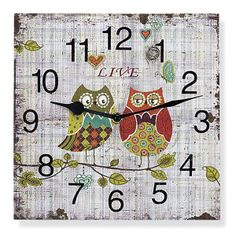 Owl Clock - Gifts, Clothing, Jewelry, Home Decor and Home Furnishings - Unique and Affordable Gifts | Potpourri Gift