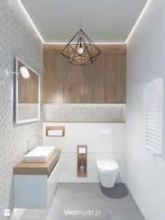 Ideas for bathroom lighting for your home - Ideen Zuhause - Bathroom Decor Guest Toilet, Small Toilet, Downstairs Toilet, Bad Inspiration, Bathroom Inspiration, Bathroom Toilets, Small Bathroom, Bathroom Ideas, Bathroom Under Stairs