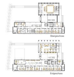 Grundrisse Town Hall, Planer, Floor Plans, Ground Floor, Projects, Floor Plan Drawing, House Floor Plans