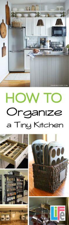 11 Tips on How Organize a Tiny Kitchen, Leaving it cleaner and feeling larger than it really is. ähnliche tolle Projekte und Ideen wie im Bild vorgestellt findest du auch in unserem Magazin . Wir freuen uns auf deinen Besuch. Liebe Grüß